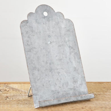 OLD TIN EASEL DISTRESSED