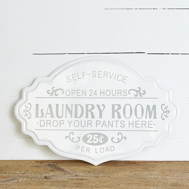 Grey & White Laundry Room Sign
