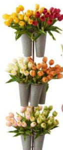10.5 Inch Real Touch Mini Tulip Stem (Bundle of 5)