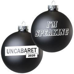 I'm Speaking - Kamala Harris - Single Black Ornament