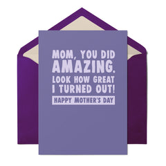 Mom, You Did Amazing - Mother's Day Card - UnCabaret