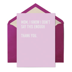 Thank You Mom - Mother's Day Card - UnCabaret