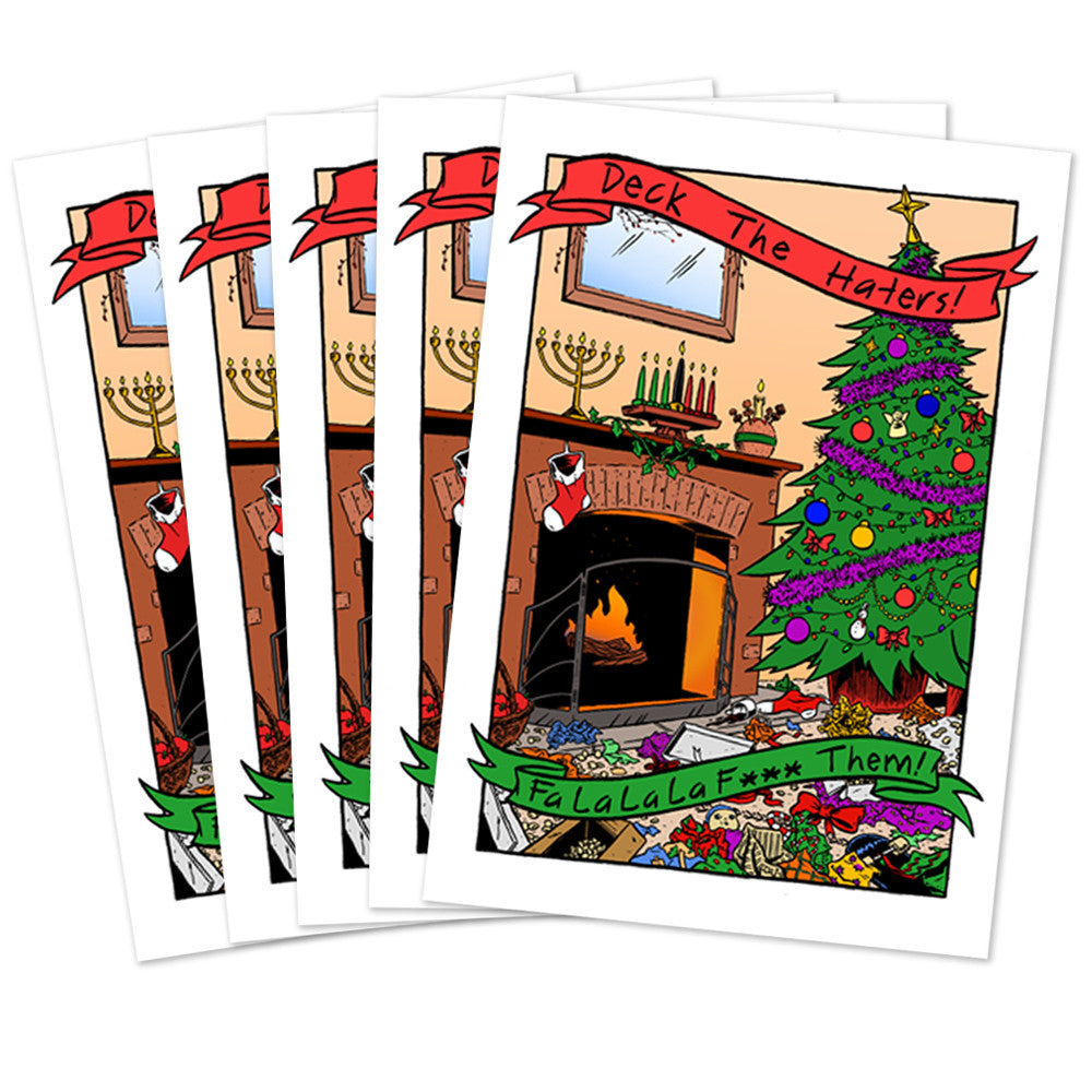 Deck The Haters Greeting Cards Estoy Merchandise