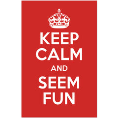 Keep Calm and Seem Fun- Poster