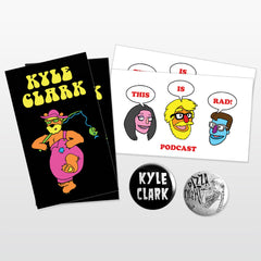 Kyle Clark's Awesomely Rad Sticker/Pin Pack