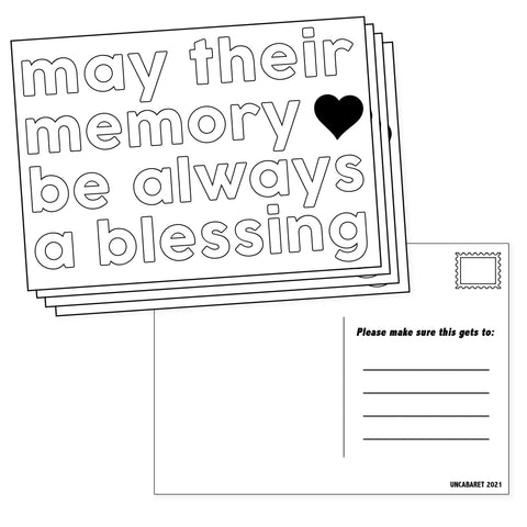 Lined Condolences Postcards (4-pack) - UnCabaret