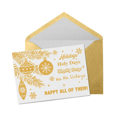 Happy Holidays Greeting Cards (5-pack) - UnCabaret