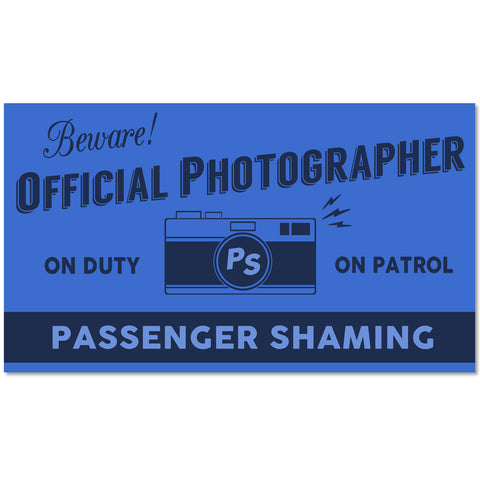 Passenger Shaming Photographer- Pack of 2 Luggage Tags