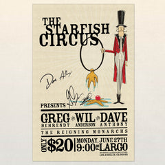 Signed FIRST EVER Starfish Circus Poster