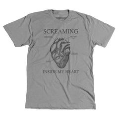 Screaming Inside My Heart - Unisex tee