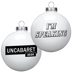 I'm Speaking - Kamala Harris - Single White Ornament