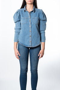 Danielle Puff-Sleeve Denim