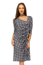 Load image into Gallery viewer, Women's 3/4 Three Quarter Sleeve Midi Dress with-Women's Clothing-EthioTELL