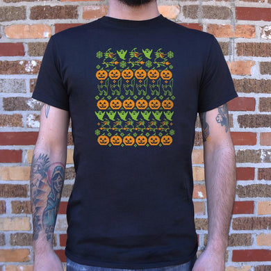 Ugly Halloween Sweater T-Shirt (Mens)