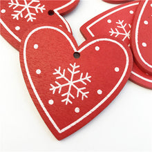 Load image into Gallery viewer, 10PCs 5cm Wooden Christmas Tree Toys Articles For Chirstmas Hanging Ornaments Xmas Decor For Home Party Wedding New Year Noel