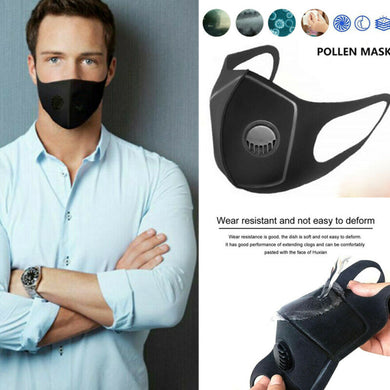 Air Purifying Reusable Face Mask with Carbon Filter Anti-fog PM2.5 Respirator