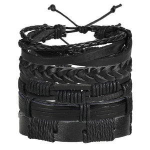 Multilayer Leather Bracelet Men Fashion Braided Handmade.-Accessories-EthioTELL