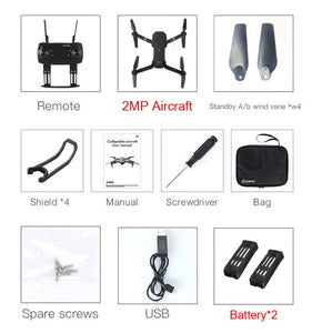E58 WIFI FPV With HD Camera. Foldable Arm RC Quadcopter Drone-Accessories-EthioTELL