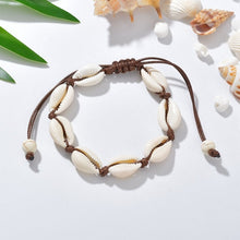 Load image into Gallery viewer, Terreau Kathy Anklets for Women shell Foot Jewelry Summer Beach Barefoot Bracelet ankle on leg Ankle strap Bohemian Accessories-EthioTELL