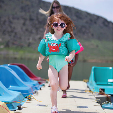 Baby kid Arm Ring Vest Float Foam Safety Boy Girl Jacket Swim suit Floating Vest For Child Swim Inflatable pool accessories-EthioTELL