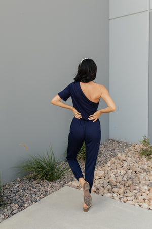 Arm And A Leg Jumpsuit In Navy