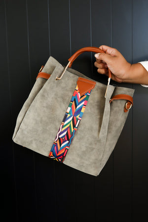 City Chic Tote Bag in Gray