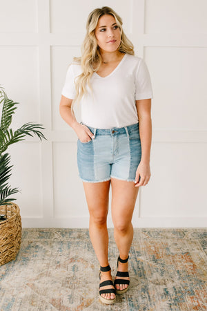 Judy Blue Two-Toned Shorts
