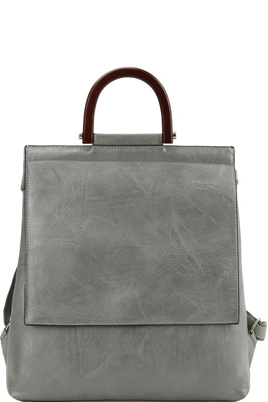 Light Gray Backpack/Purse