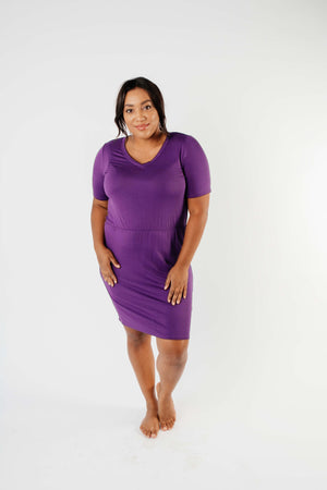 Cute Comfort Dress In Purple
