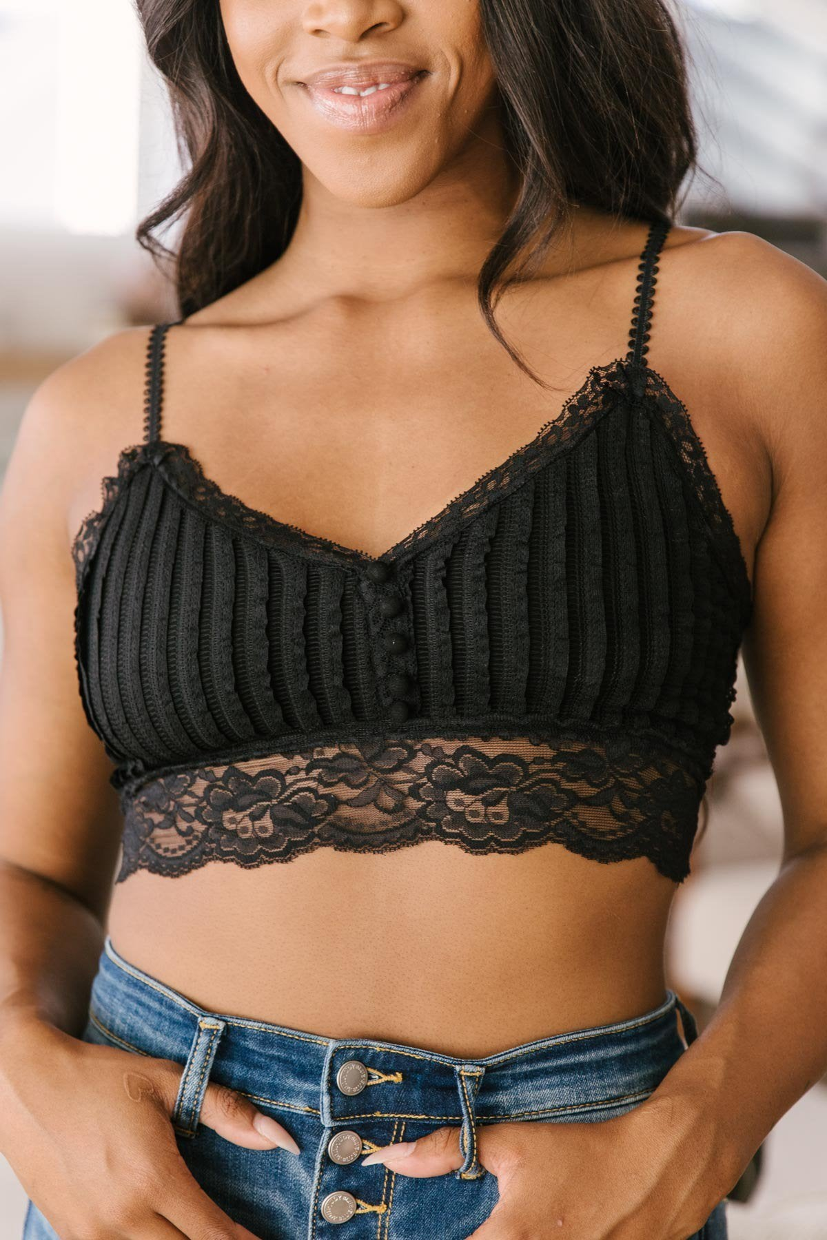 Back to the Light Bralette in Black