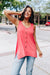 Beat The Heat Button-Down Tank In Coral