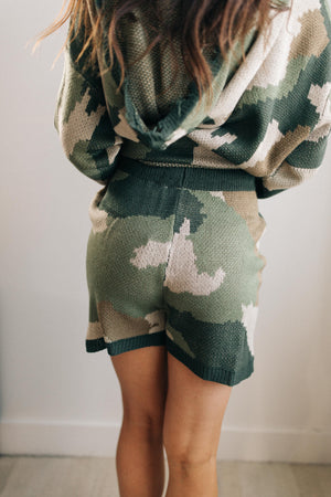 Chasing Sleep Lounge Set Shorts in Camo