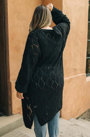 Choose Me Chunky Cardigan in Onyx - DCB Size Small