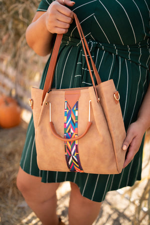 City Chic Tote in Camel
