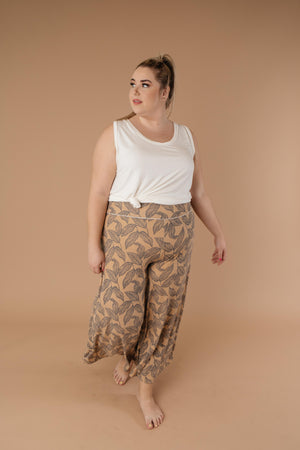 Fallen Leaves Wide Leg Pants