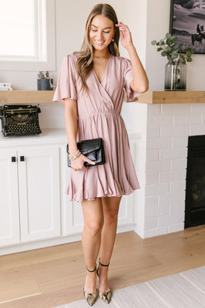 Forever & Always Dress in Mauve