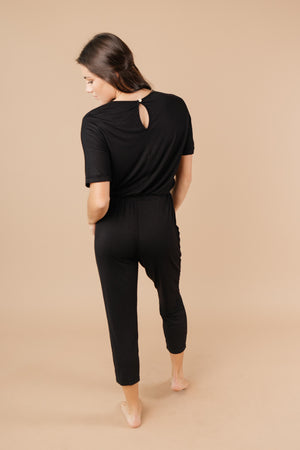 Girl Next Door Jumpsuit In Black - DCB Size XL
