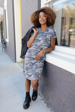 Hiding Out Camouflage Dress
