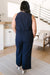 Hometown Girl Jumpsuit in Navy