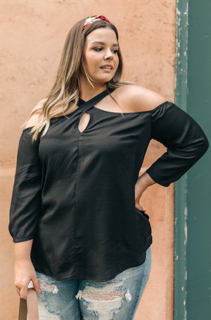 Hot Then Cold Blouse In Black - DCB Size XS