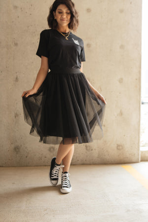 Indulge Tulle Skirt In Black - DCB Size Small