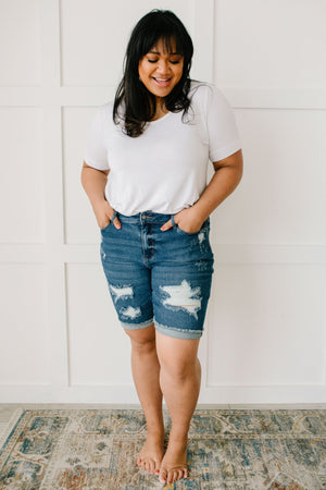 Judy Blue Longer Lengths Bermuda Shorts