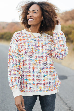 Makin' Me Love You Multicolored Sweater - DCB Size XS