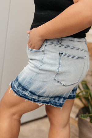 Judy Blue Melted Blues Denim Shorts