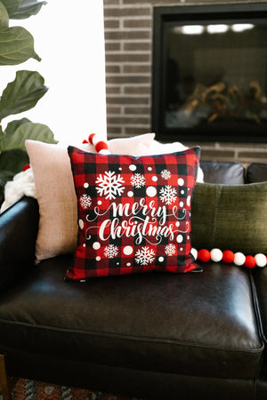 Merry Little Christmas Pillow Case