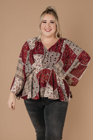 Patch Things Up Date Night Blouse - DCB Size Large