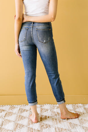 R & R Destroyed Relaxed Skinny Jeans