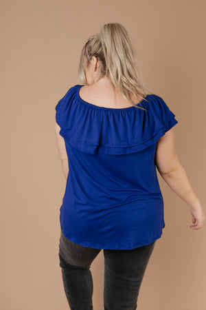 Sexy Señorita Off-Shoulder Top In Blue - DCB Size Small