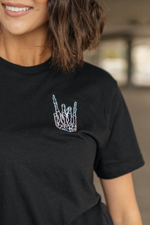 Skull Hand Embroidered Tee