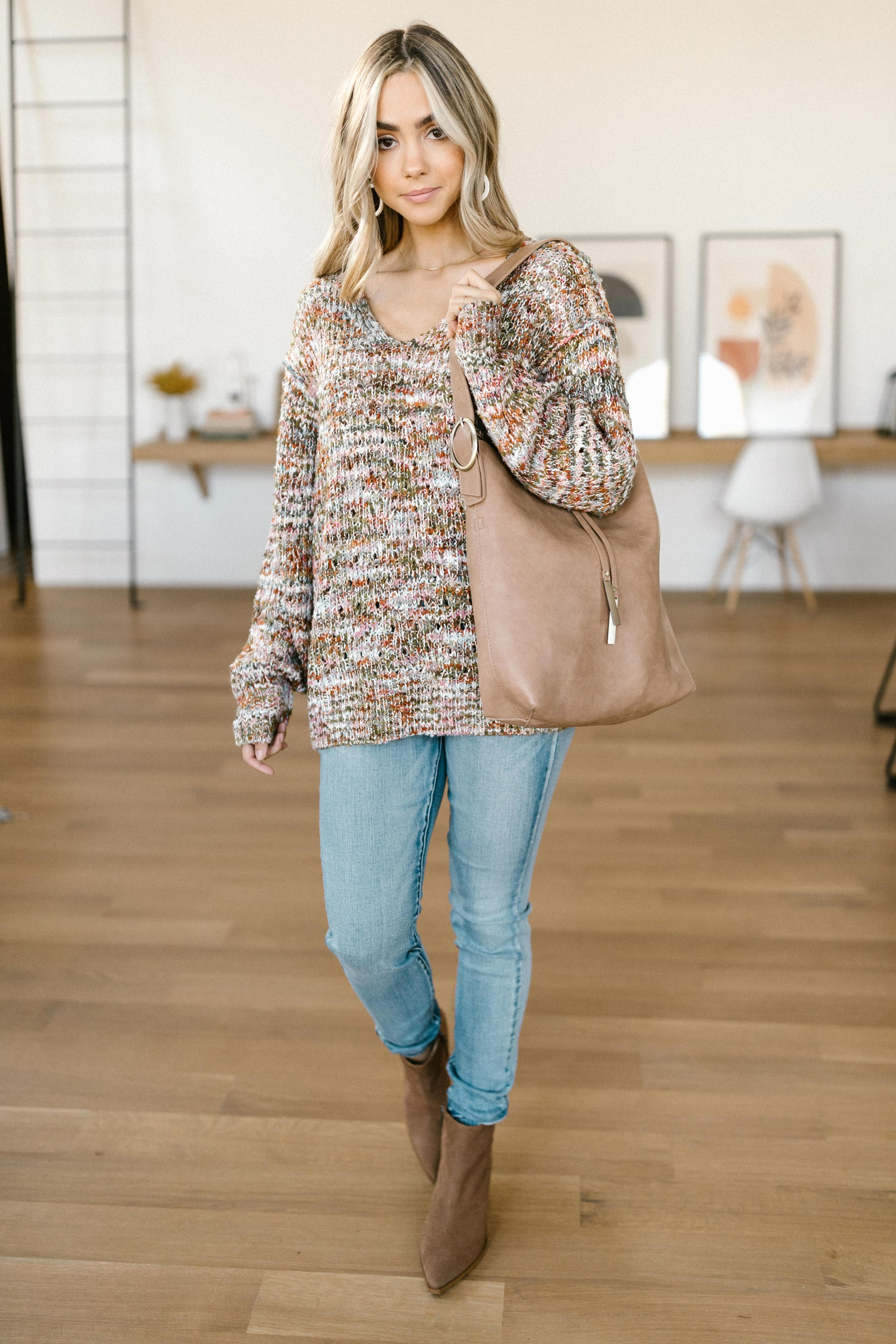 Colorful Knit Sweater